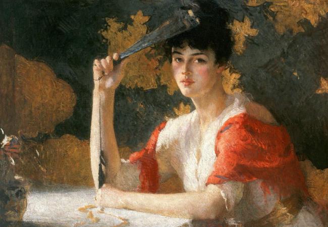 Anna Karenina di Lev Tolstoj. Dalla copertina: Frank Weston, Red and Gold