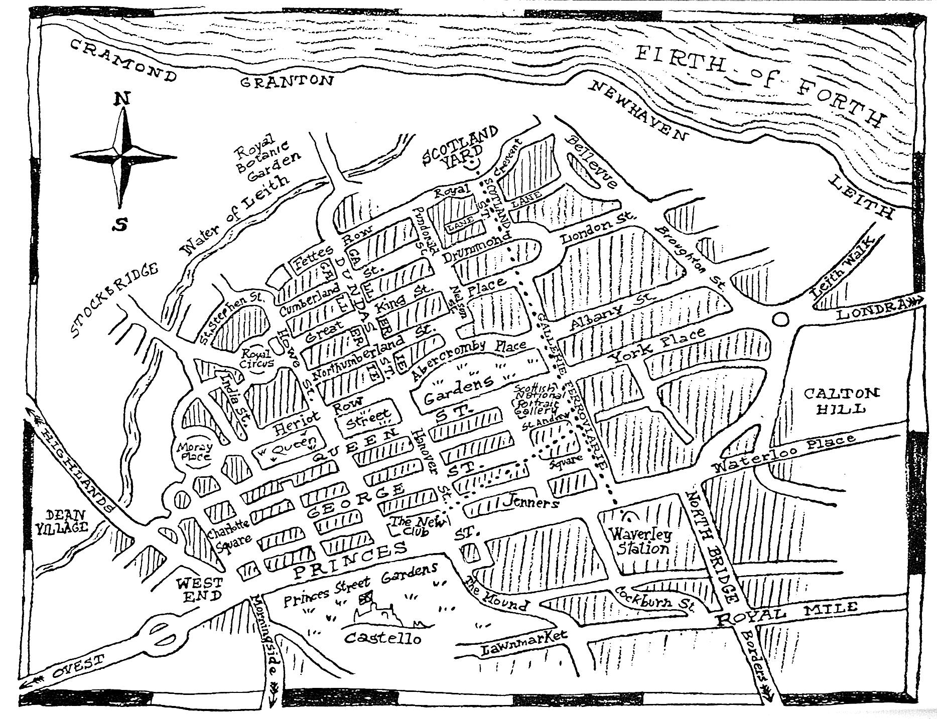 44 Scotland Street - Edinburgh Map
