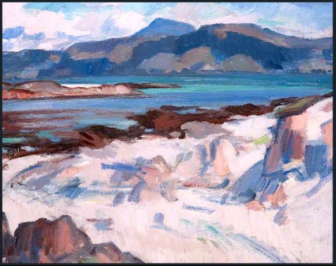 Ben More from Martyrs Bay Iona - Samuel Peploe
